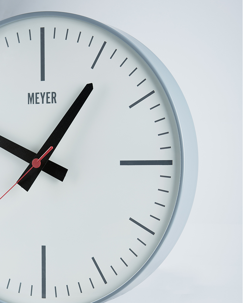 modern clock gri minimal duvar saati  meyer object - previous next